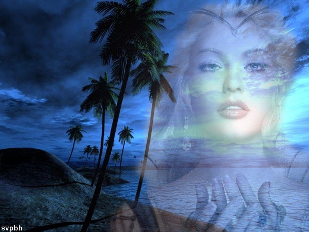 Fond d 39 ecran mer et visage photo de visage en fond d 39 cran for Images gratuites fond ecran mer